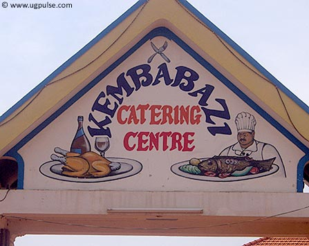 The arch over the entrance into Kembabazi Catering Services's premises