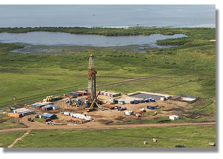 Heritage drilling oil at Kingfisher