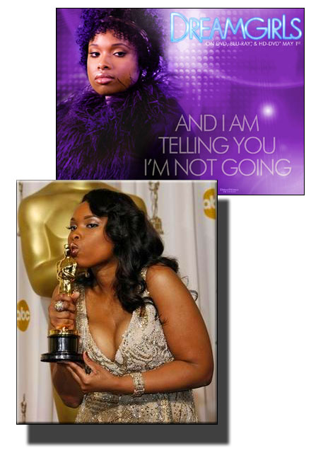 Jennifer Hudson wins an Oscar for her role in DreamGirls