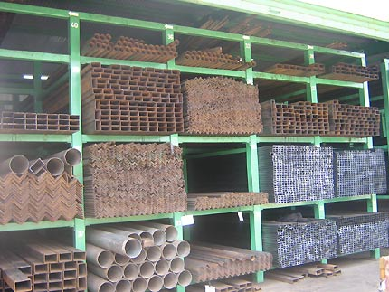 A selection of Uganda Baati's steel products