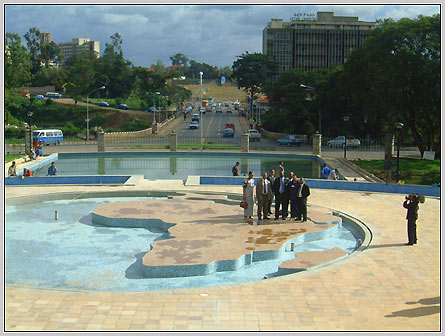 Africa Park: Near UN-ECA and Hilton Addis, one of the parks built by Sheik Mohammed Alamudin, designed to beautify the city