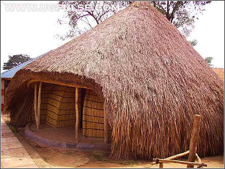The main building at the Kasubi royal tombs