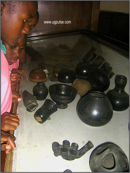 Pupils of St.Theresa Namilyango Primary School visiting the Uganda Museum