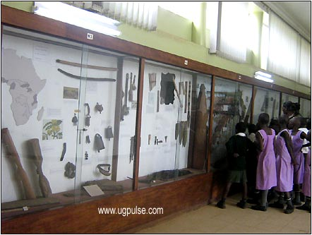 Tourists visiting the Uganda Museum