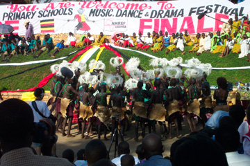 Patongo Primary School competes in Kampala.