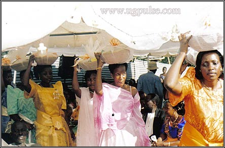 Showing financial clout: Gifts to the bride's family are a must in Busoga