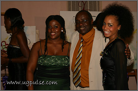 H.E Boney M. Katatumba at the Nyaka Eire! Concert in January 2008 with UGPulse team Jane Musoke-Nteyafas and Mirembe Campbell