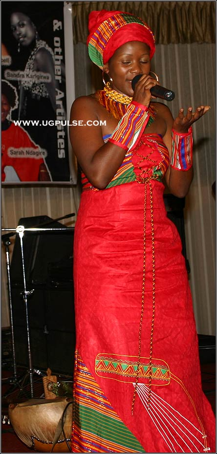Dressed by Stella Mercy Atal: Sarah Ndagire at 2008 Nyaka Eire! Concert