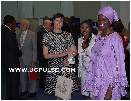 Mayoress of Kensington, Flora Nducha, BBC Swahili Services and Ida at teh Madagascarn exhibition in London