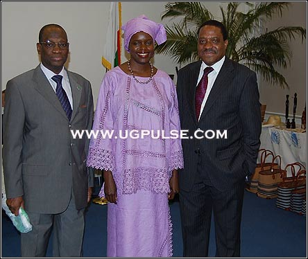 Senagalise Ambassador, Ida and Mozambiquan High Commissioner to London at the Madagascarn Exhibition in London