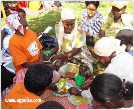 Preparing dishes for infants and young children using the sweetpotato in Mukono