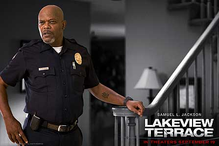 Abel (Samuel L. Jackson) in Lakeview Terrace