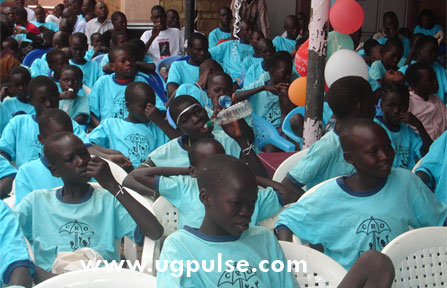 Children at the CRO Christmas party