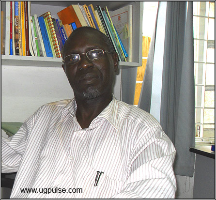 Julius Ocwinyo in his office
