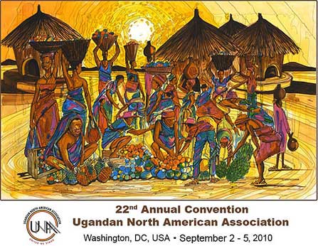 Official 22nd Ugandan North American Association poster by David Kibuuka