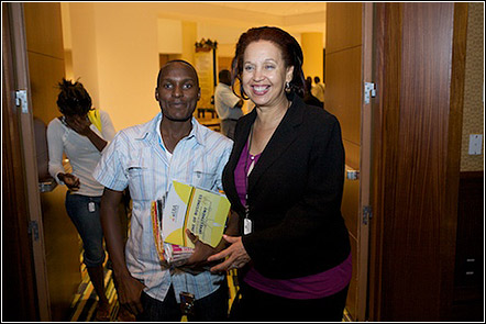 Dr. Maggie Kigozi and Julius A. Kyazze at the UNAA Young Adult Mixer