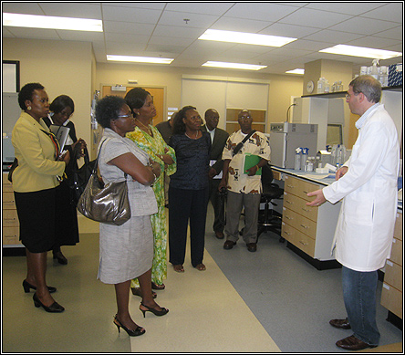 A doctor at the molecular laboratory in Inova Fairfax explains how genomics tests.  A doctor explains how genomics tests may be used in cancer research