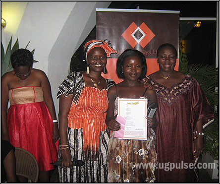 Beverley Nambozo Nsengiyunva, Lillian Aujo and Rt. Honourable Rebecca Kadaga