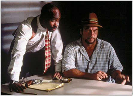 Jake Rodriguez (Tupac Shakur) and Frank Divinci (James Belushi)