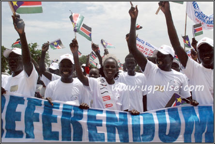 The people of Southern Sudan celebrate