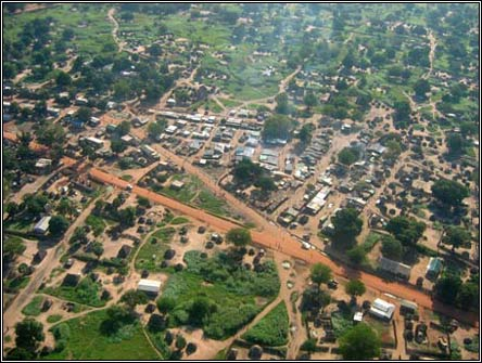 Juba, South Sudan - Aerial view