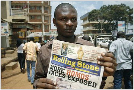 Giles Muhame, editor of Ugandan Hang Them newspaper Rolling Stone