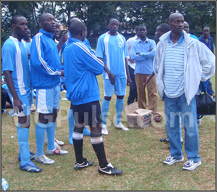 Some of SC Villa players at Villa Park