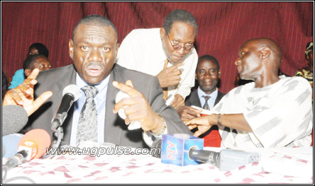 Dr. Besigye at a meeting with opposition leaders