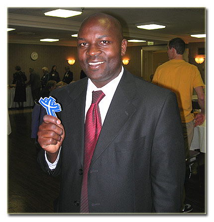 Twesigye Jackson Kaguri at a fund raiser in Indiana