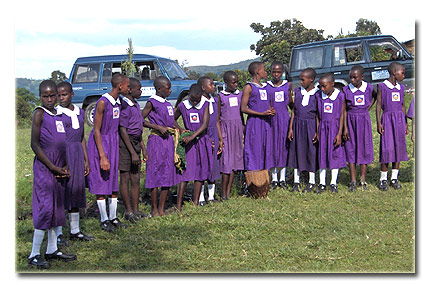 Nyaka kids at independence day 2005 (Kanungu District)
