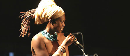 Tshila at the Zanzibar International Film Festival- July 2006.