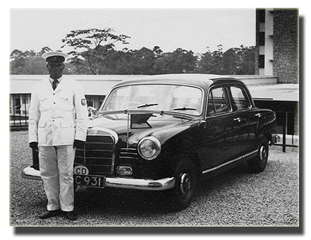 Driver of the German Ambassador in front of Parliament Building