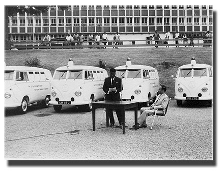 The 15 ambulances from the people of Germany to the people of Uganda