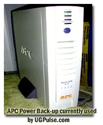 APC Power Back-up currently used by UGPulse.com
