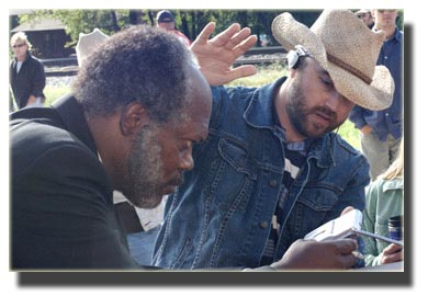 Samuel Jackson with Director Craig Brewer