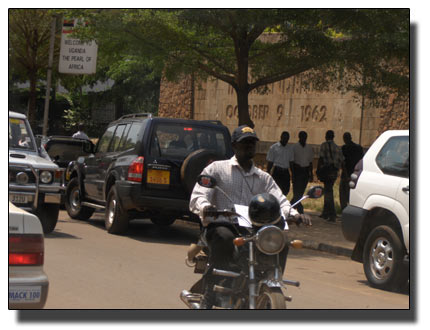 An increasing number of SUVs in Kampala