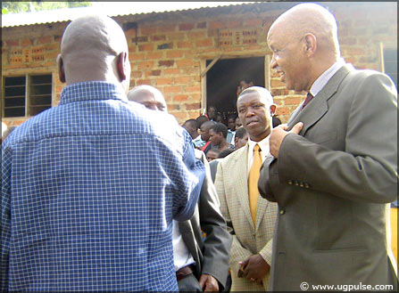 Local leaders on a visit to Nyaka AIDS Orphans' School