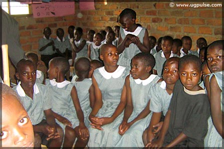 Eager orphans attend classes at Kutamba Aids Orphans School in Nyakisenyi