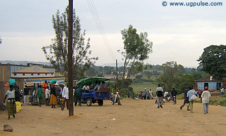A typical sight that welcomes you to Kanungu town, western Uganda