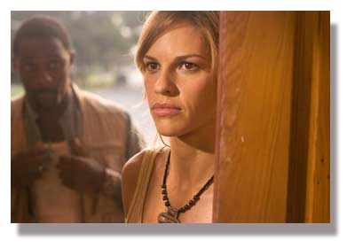Idris Elba as Ben and Hillary Swank as Katherine Winter in The Reaping