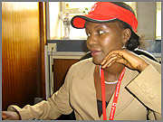 Lucy Abulo, an employee of Posta Uganda