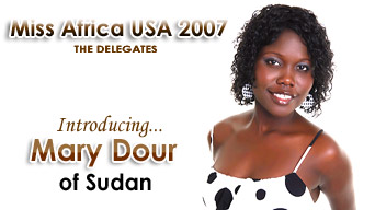 Miss Africa USA 2007: Delegate Mary Dour of Sudan