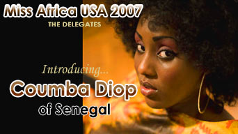Miss Africa USA 2007: Delegate Coumba Diop of Senegal