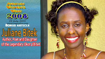 One on One with Juliane Bitek, Author, Poet and Daughter of the Legendary Okot p'BiteK